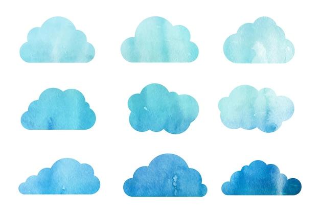 Aquarel wolkencollectie