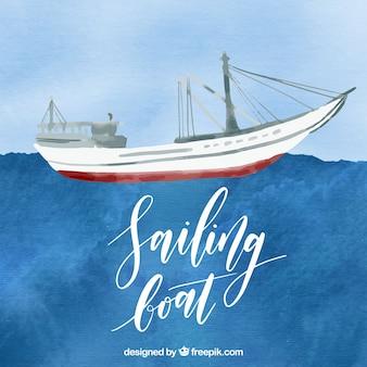 Aquarel zeilboot