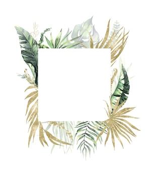 Aquarel zomer uitnodigingen frame
