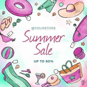 Aquarel zomer verkoop