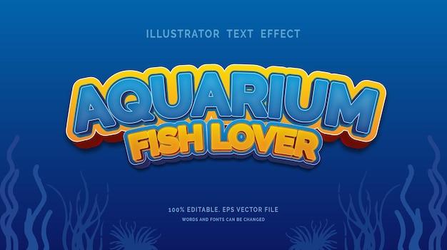 Aquarium fish lover text effect