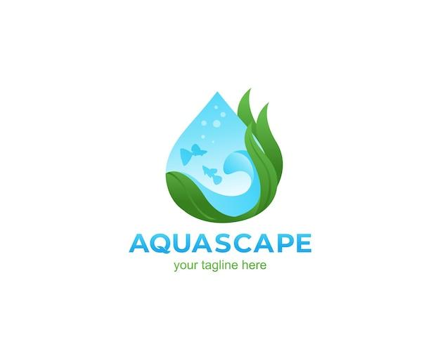 Aquascape natuur logo ontwerp