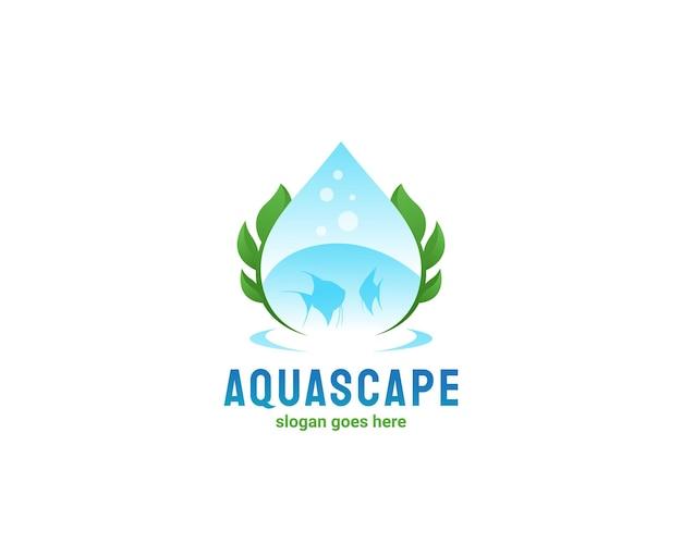 Aquascape zoetwatervis logo-ontwerp