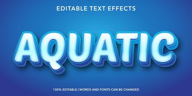 Aquatisch bewerkbaar teksteffect