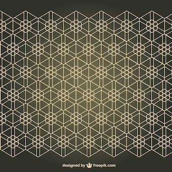 Arabesk vrije naadloze patroon achtergrond