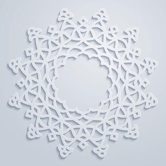 Arabisch cirkelpatroon om ornament