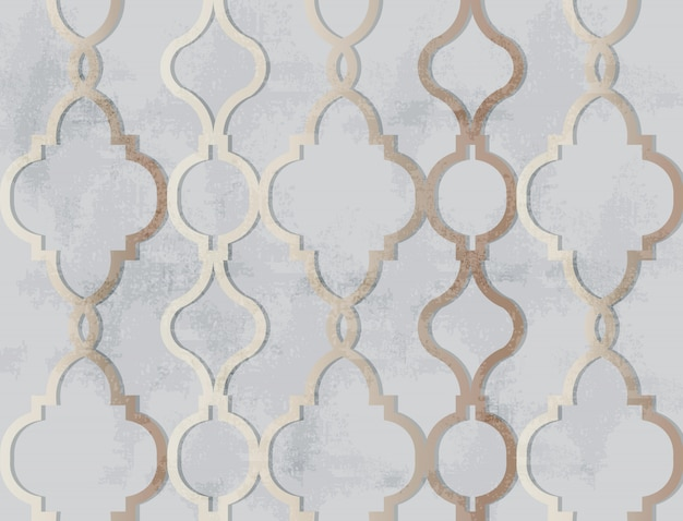 Arabisch gouden ornamentpatroon. luxe elegante glanzende kleurdecors