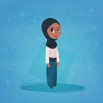 Arabisch meisje kleine stripfiguur