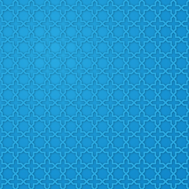 Arabisch sterpatroon met blauwe kleur