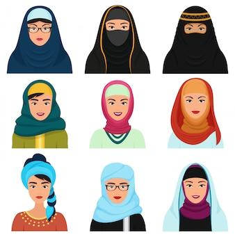 Arabische avatars uit het midden-oosten