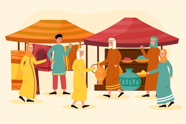 Arabische bazaar concept