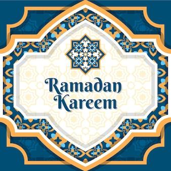 Arabische decoratieve achtergrond in papierstijl