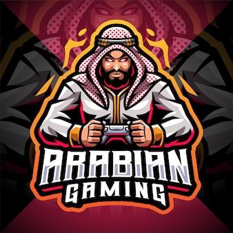 Arabische gaming esport mascotte logo ontwerp