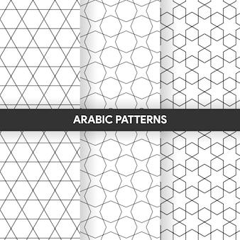 Arabische islamitische stijl sieraad decoratieve patronen collectie