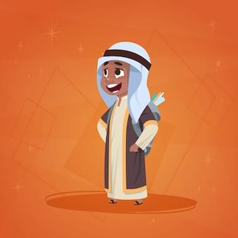 Arabische jongen kleine stripfiguur