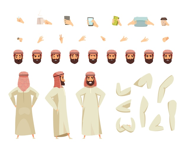 Arabische man bouwset