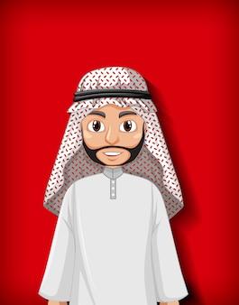Arabische man stripfiguur