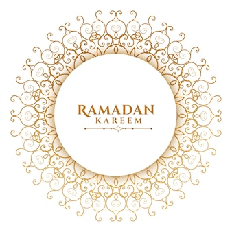 Arabische mandala-stijl islamitische ramadan kareem
