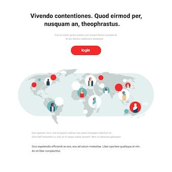 Arabische mensen op wereldkaart chat bubbels wereldwijde communicatie arabisch karakter