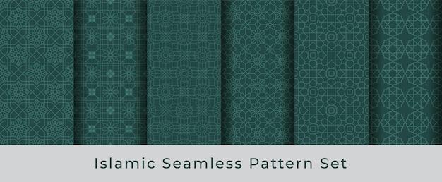 Arabische naadloze patroon collectie set