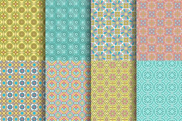 Arabische patrooncollectie Gratis Vector