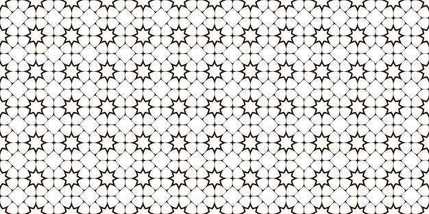 Arabische traditionele naadloze patroon met sterren, lijn geometrische sieraad. geweldig ontwerp voor stof, textiel, hoes, behang, achtergrond