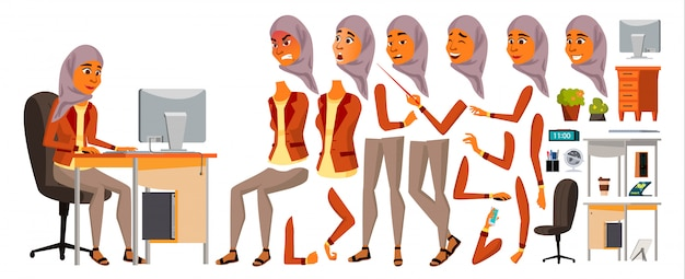 Arabische vrouw kantoor werknemer