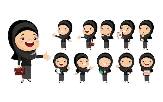 Arabische vrouwen in verschillende acties
