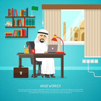 Arabische werknemer poster