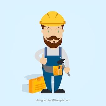 Arbeider met beschermende kleding