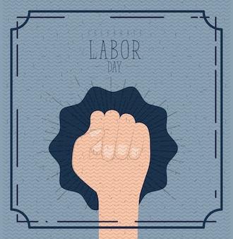 Arbeidsdag met hand vuist