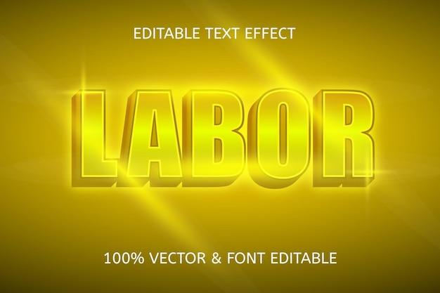 Arbeidskleur goud bewerkbaar teksteffect