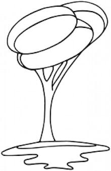 Arbre moderne bw