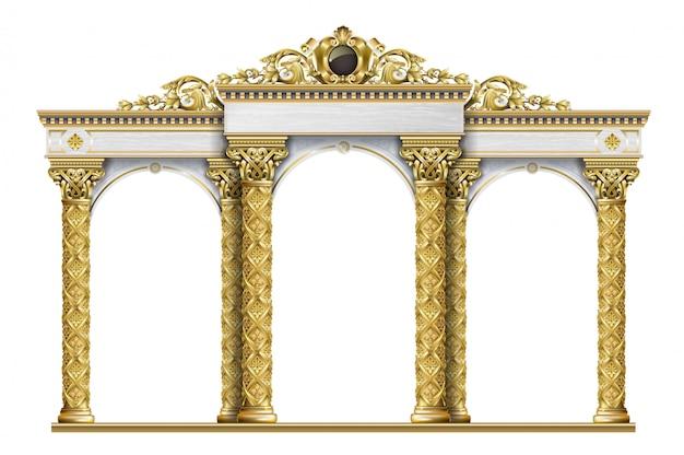 Arcade golden terrace palace entrance
