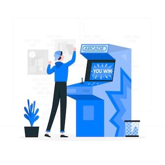 Arcade machine concept illustratie