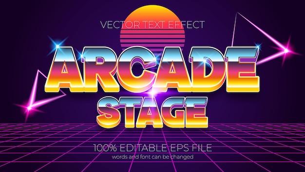 Arcade podium tekst effect vectorillustratie