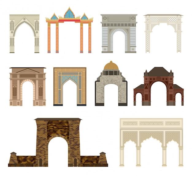 Arch set illustratie