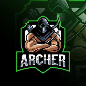 Archer mascotte logo esport sjabloon