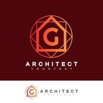 Architect eerste letter g logo ontwerp