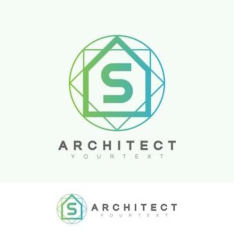 Architect eerste letter s logo ontwerp