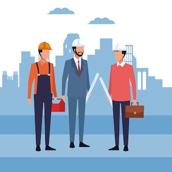 Architect en werknemers