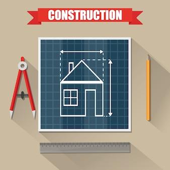 Architecturaal project. bouw. bouwen en plannen