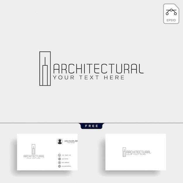 Architectuur bouw logo sjabloon vector pictogram elementen