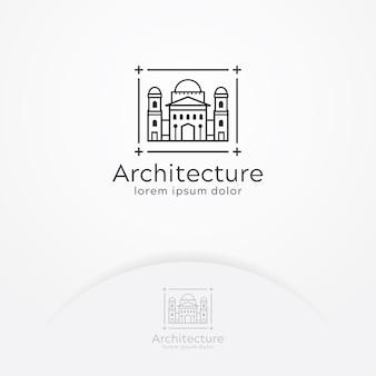 Architectuur gebouw logo
