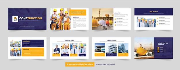 Architectuur presentatie schuifregelaar sjabloonontwerp