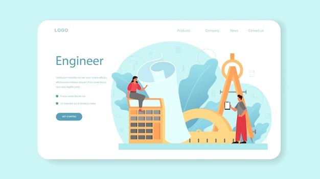 Architectuur webbanner of bestemmingspagina