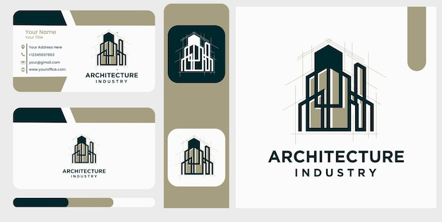 Architectuurindustrie home build symbool logo ontwerpsjabloon