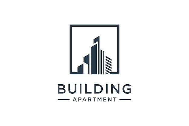 Architectuurinspiratie voor het bouwen van logo-ontwerp