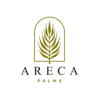 Areca palm logo geïsoleerd op wit