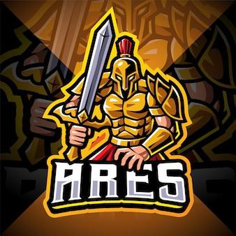 Ares esport mascotte logo